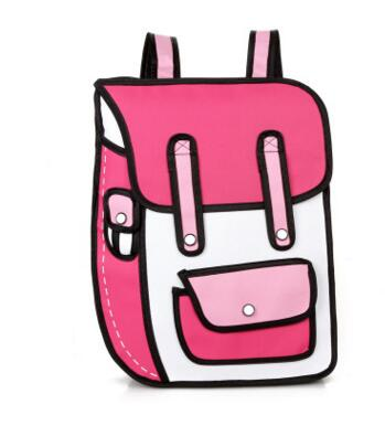 New Fashion 2D Bags Novelty Back To School Bag 3D Drawing Cartoon Comic Handbag Lady's Shoulder Bag Messenger 6 Color Gifts