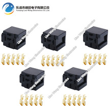 цена на 5 Sets 5 Pin Automotive Connector Connector Relay Mount horn Relay With Terminal DJ7059-6.3-21 5P