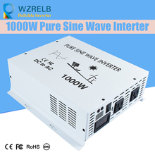 цена на Reliable Continuous Power 1000w power inverter with remote controller off grid pure sine wave  solar DC 12V 24V 48V  110v