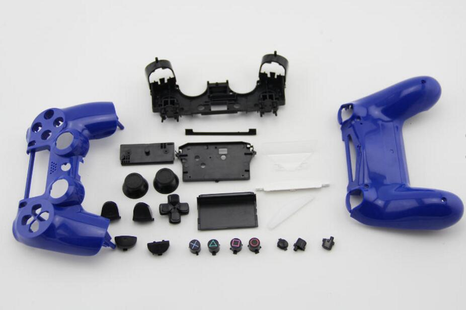 Купить с кэшбэком For Old Playstation Dualshock 4 PS4 Wireless Controller V1 Full Set Replacement Housing Shell Smooth Case Handle Cover Mod Kit
