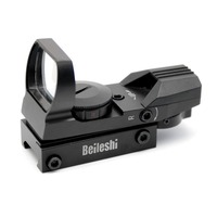 Hot Holographic 4 Reticle Red Green Dot Tactical Reflex Sight Scope With Mount For Gun 33mm