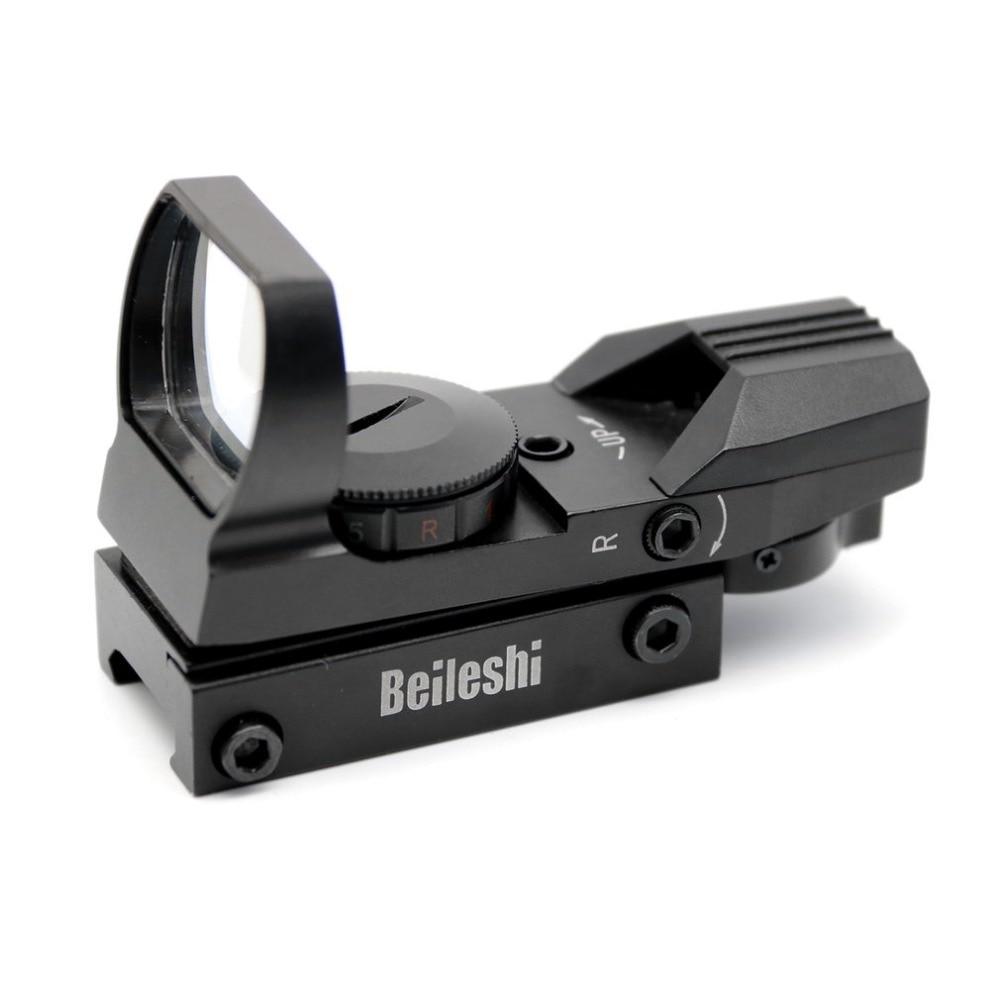 20mm rifloscopio caza Airsoft óptica alcance holográfico punto rojo vista Reflex 4 retícula táctica pistola accesorios oferta