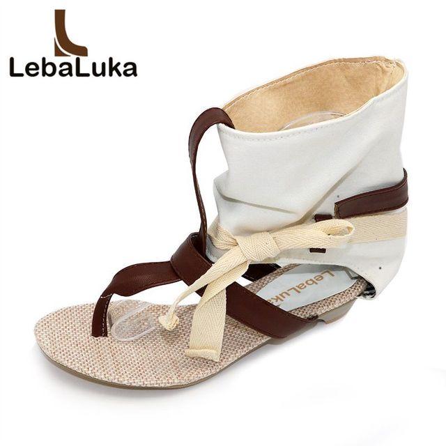 34 Sandalen Size Lebaluka Sexy Dames Platte Mode Vrouwen Jurk 43 wkXliuZTOP