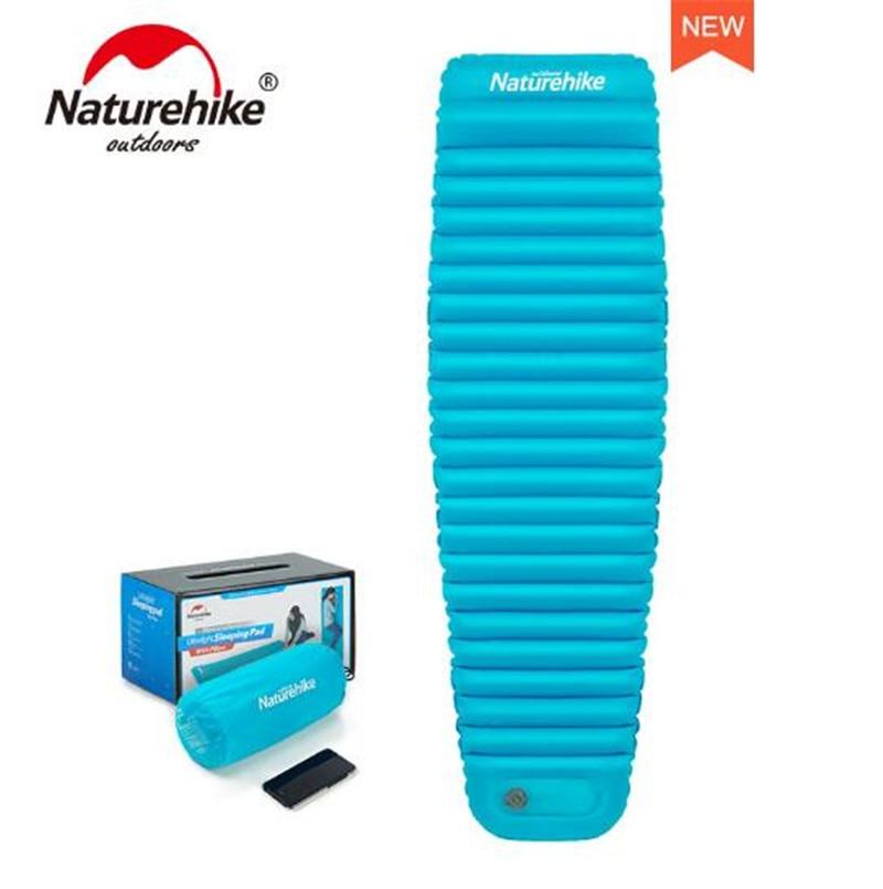Naturehike Outdoor Push Inflatable Camping Mat Tent Picnic Folding Mummy Mattress Outdoor Waterproof Sleeping Pad помада make up factory make up factory ma120lwhdq39