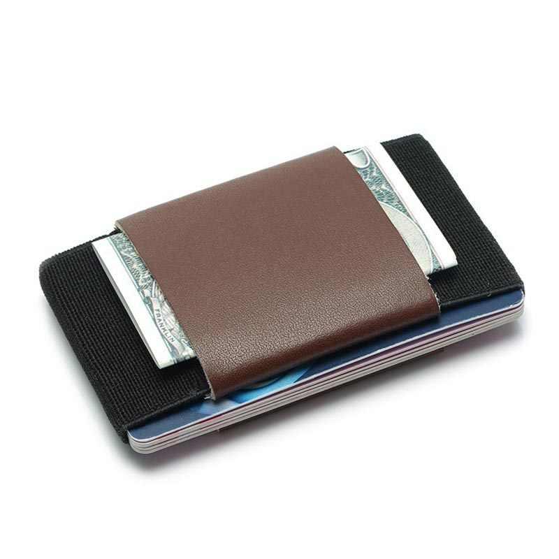 Manywe эластичный волшебный маленький держатель для кредитных карт минималистичный Тонкий деловой бумажник для документов