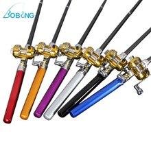 Bobing Mini Rod & Reel Portable Pen Shape for Pocket Telescopic Fishing Pole Sea Fishing Tackle Rod Fishing Rod With Reel Wheel