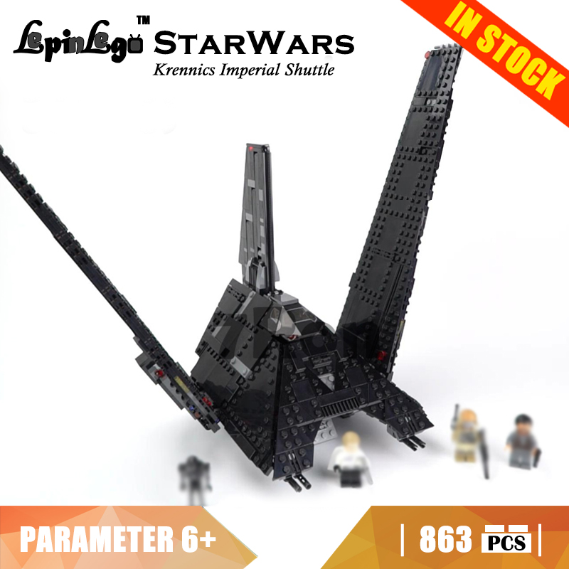 05049 Compatible with Lego blocks Star Wars 75156 Krennics Imperial Shuttle Model building toys hobbies bricks for children Gift krennic s imperial shuttle building bricks blocks toys for children boys game plane weapon compatible with lepins diy model