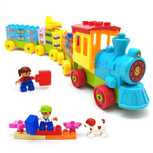 Girl Hot Sale Large Particles Building Blocks Accessories DIY Assembled Big Blocks Part Compatible with duplo Toy Expand Package qwz 86pcs girl s pink dream princess castle model large particles building blocks bricks kids diy toy compatible with duplo