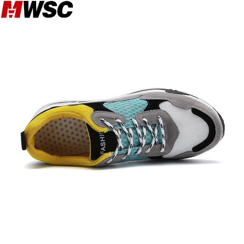 Respirant Chaussures De jaune Mwsc Lumière 2018 Loisirs Patchwork Maille Noir Sneaker rouge Hommes Arrivée Printemps Nouvelle Casual Mâle ggzXxCq8