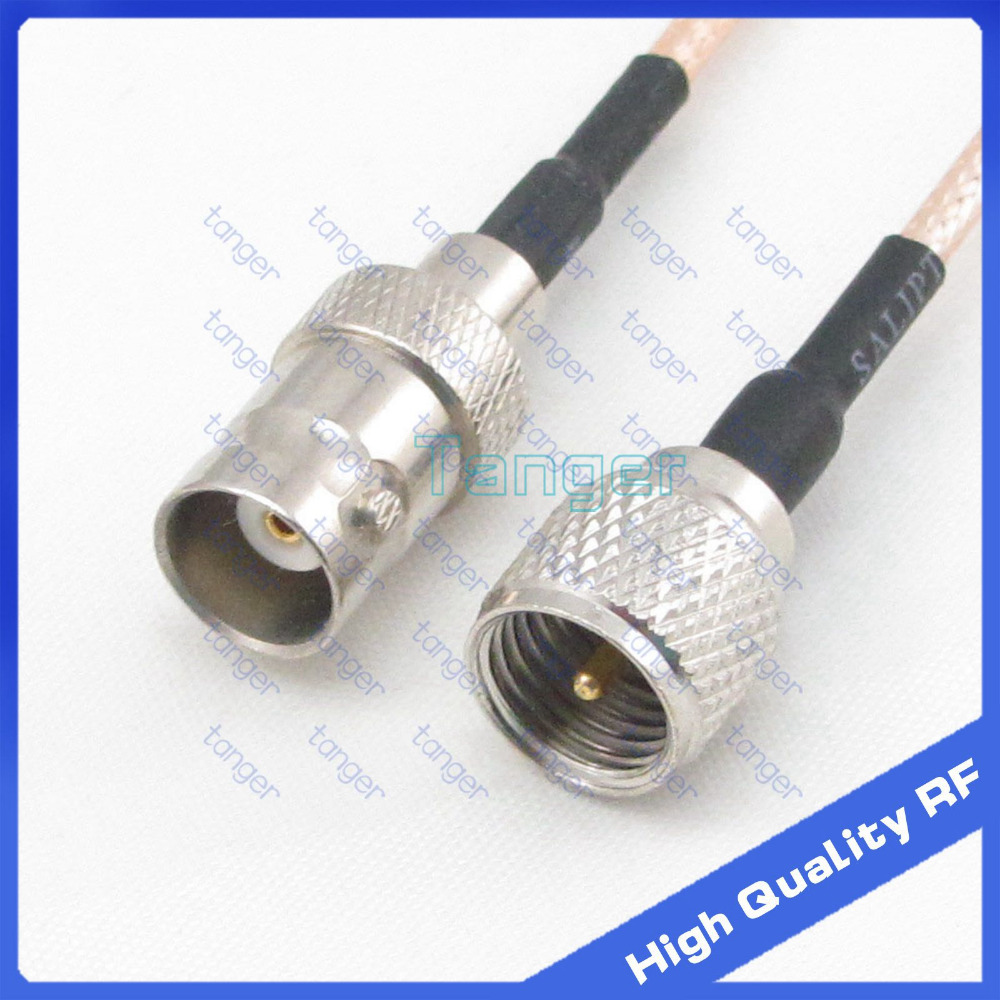 Hot Selling BNC female jack to Mini UHF male plug PL259 straight 20cm 8inch RG316 RF Coaxial Pigtail Low Loss cable High Quality tanger so239 mini uhf female jack to sma male plug right angle with 20cm 8 rg316 rf coaxial pigtail low loss cable high quality