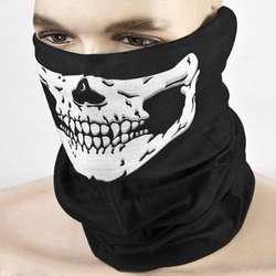 Для мужчин унисекс Traceless Многофункциональный волшебный шарф жуткий Череп Скелет Печатных Велоспорт ветрозащитный повязка-труба тюрбан