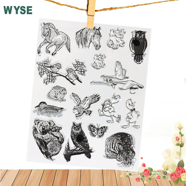 14 18cm transparent stamp horse tiger owl stamps clear stamps card