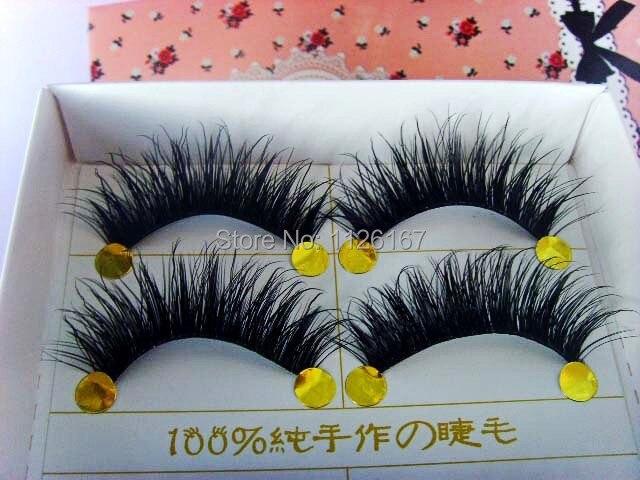 Free Shipping 5 pair set natural long f false Eyelash lot black Cross Fake Eyelash Soft