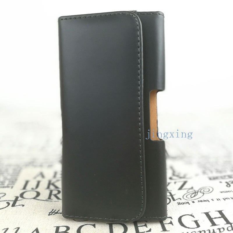 Nueva smooth/bolsa del cuero del patrón de lichee belt clip bolsa para alcatel a