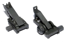 Hunting Tactical Folding Front and Rear Sights Black accessories