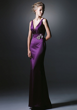 vestido de festa curto free shipping robe soiree 2014 new sexy belt purple long dress party evening elegant formal dresses
