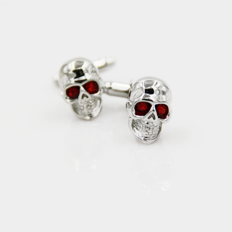 2015 Sale Tie Clip Lepton superman cuff links Crystal Eyes Skull Skeleton Head Marvel superhero Cufflinks