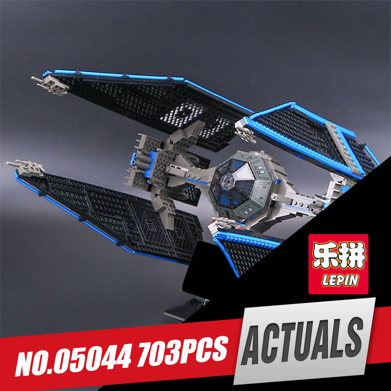 Lepin 05044 703pcs New Star Series Limited Edition The TIE set Interceptor Educational Building Blocks Bricks Model War Toy 7181 lepin 05035 star wars death star limited edition model building kit millenniums blocks puzzle compatible legoed 75159
