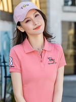2019 New style women's Polo shirt, short sleeve trendy women's loose jacket, summer Lapel Korean sports and leisure T shirt
