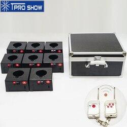 Мини-система дистанционного управления с холодным огнем и фонтаном, 8 комплектов, 4 группы, Pyrotechnics, беспроводная машина, кейс для полета в пом...