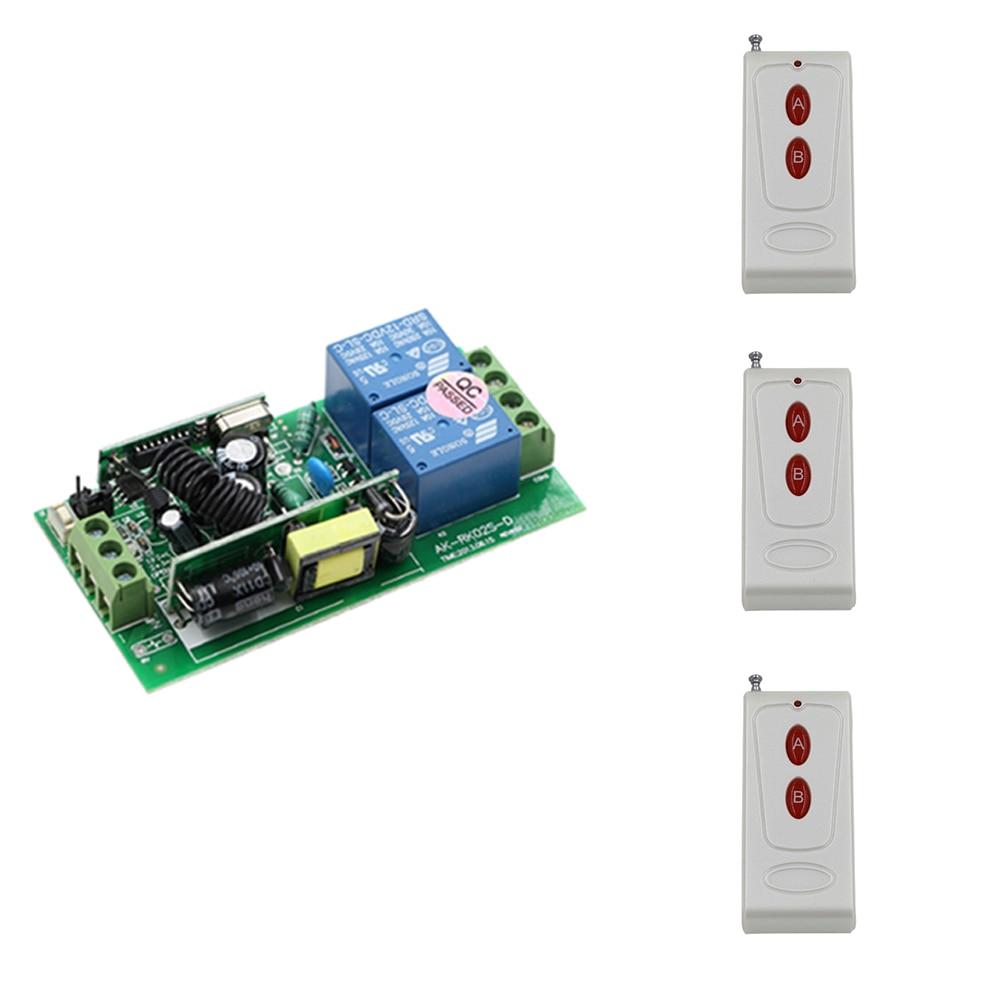 Newest AC 85V-250V Wide Range Output RF Rireless Remote Control System Receiver & 3pcs Transmitters Smart Home Control System 85v 250v wide range output rf wireless remote control system 1 receiver