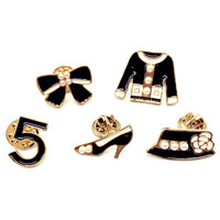 Esmaltes Broche Brooch Collar Pin Up Kpop Cute Brooches Pins Fashion Jewelry Women Cap Shirt Scarf