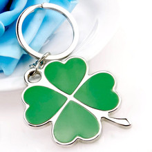 Zinc Alloy Metal Personality Keychain Enamel Clover Flower Key chains for Women Backpack Accessories Jewelry Pendant Charm
