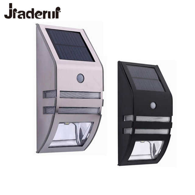 Jiaderui Solar Lamp Outdoor Ip65 Waterproof Stainless Steel Garden Path Lights Ed Pir Auto Motion