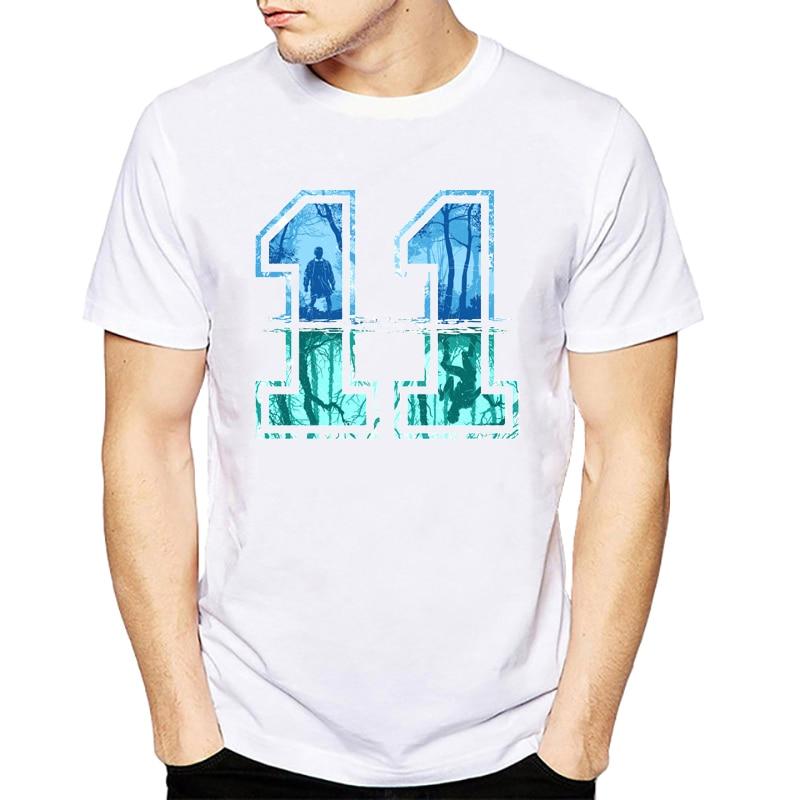 2018 New Summer Stranger Things t shirt Punk 11 eleven T shirt Men Hipster Street wear