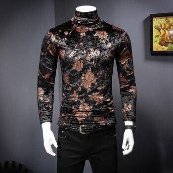 e5e59f82bb Flores Manga Hombre Camisas Invierno Camisetas Impreso Larga Poleras  wTZXOUxqdO