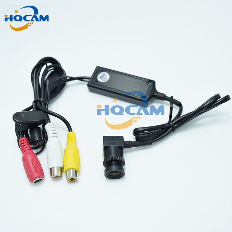 цена на HQCAM Mini Color Camera 1/3 Sony Ccd 600Tvl Mini Camera with Separated camera built-in Microphone MINI CCD CAMERA