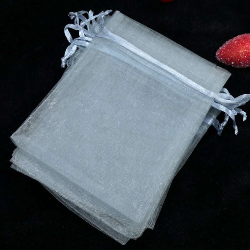 200pcs Lot 15x20cm Grey Organza Bags Tulle Jewelry Gift Bag Pouches Christmas Wedding Favor Cosmetics Gifts Packaging In Wring Supplies