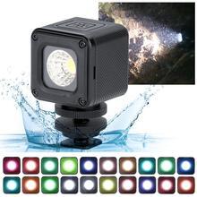 울란지 l1 프로 방수 조광기 led 비디오 라이트 5600 k w 20 색 필터 드론 dji osmo 포켓 gopro 7 dslr 카메라 용 led 램프