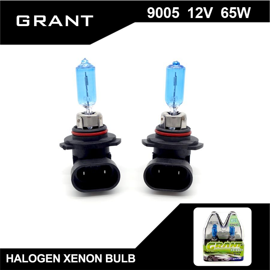 GRANT 9005 HB3 Halogen Bulbs 65W 5000K Pure White DC12V Car Headlight Auto Replacement Lamps Lights Xenon Gas Inside for accord  novsight dual color 40w 8000lm set 9005 hb3 led car lights kit auto replacement headlight bulbs 6500k white
