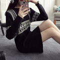 2016 Winter Women Sweater New Fashion Knitted Pullovers High Quality Tassel Sweaters Long Pull Femme Sweter Mujer SZQ083