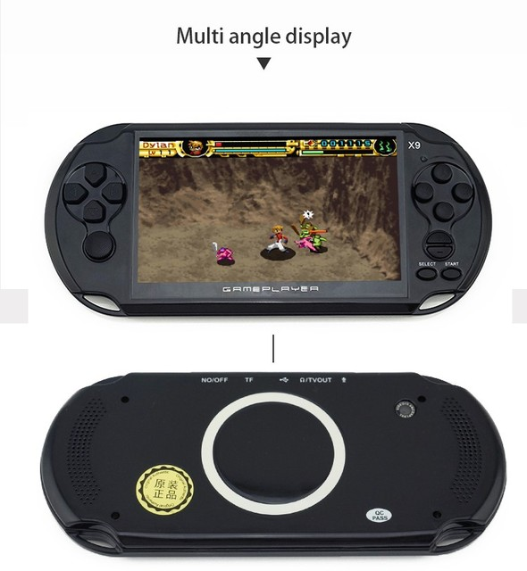 8GB Handheld Game Players 5 Inch Portable Game Console MP4 Player X9 Game Player with Camera TV Out TF Video Freeshipping
