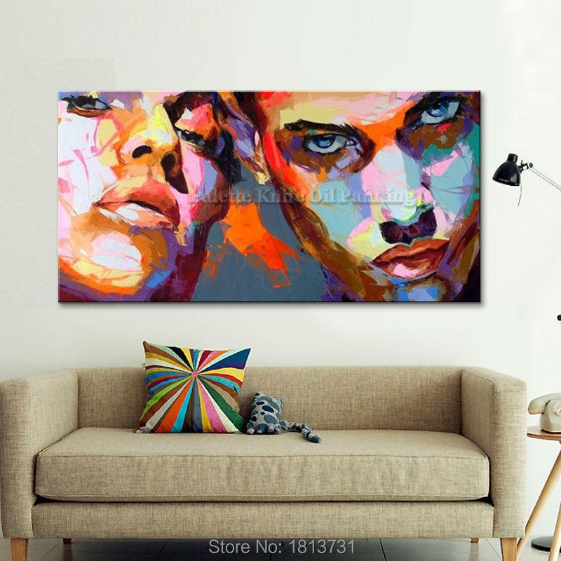 Portret szpachlą szpachlą Malowanie szpachlą Obraz olejny do - Wystrój domu - Zdjęcie 1