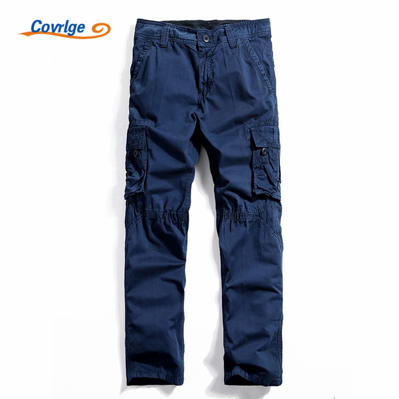 Covrlge Tactical Pants Fashion Joggers Overalls for Men Khaki Military Clothing Male Coveralls Mens Trousers Work Wear MKX009