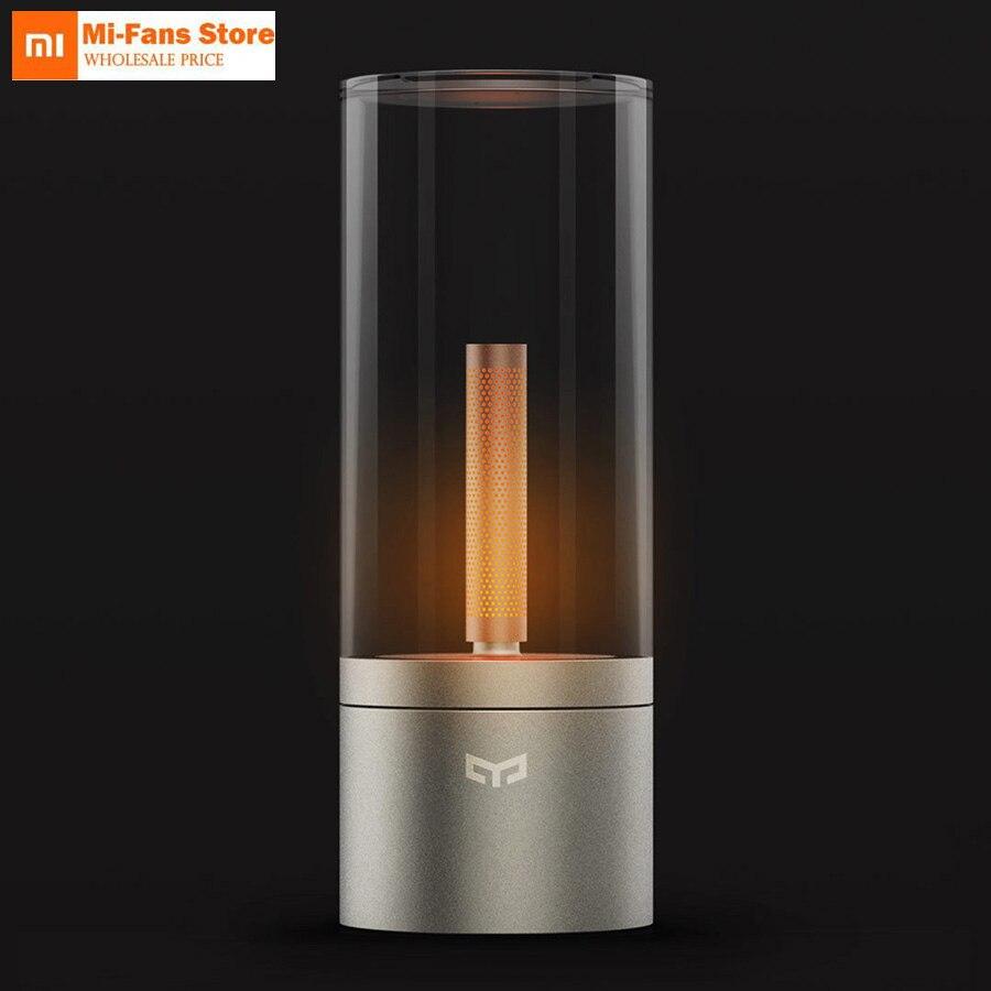 Xiaomi Mijia Yeelight Smart bougie lumière intérieure Yeelight veilleuse lampe de chevet télécommande tactile App intelligente romantique gif D5-in Télécommande connectée from Electronique    1