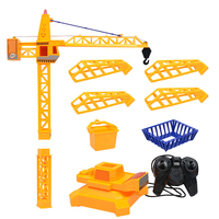Remote Control Car Tower Crane Toy Crane Engineering Truck 360 Degree Rotate Crane Engineer Construction
