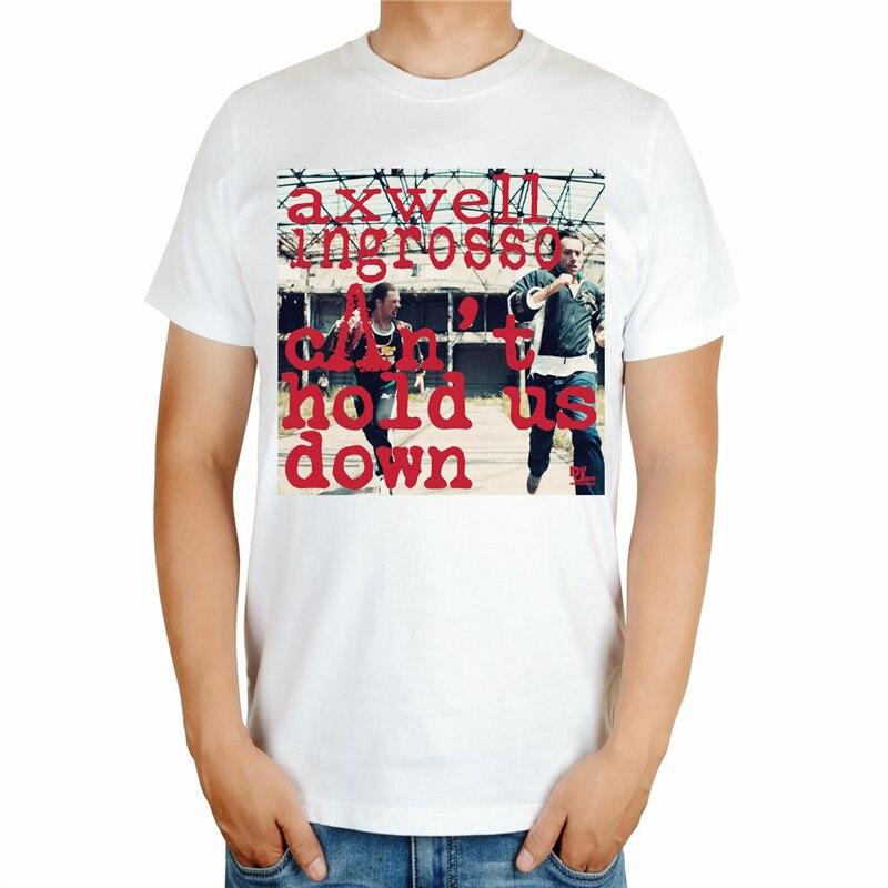 4 вида конструкций черный, белый цвет Летний Стиль Прохладный axwell ingrosso бренд певица DJ мастер ММА принт 3D хлопковая футболка музыка фитнес - Цвет: Бежевый