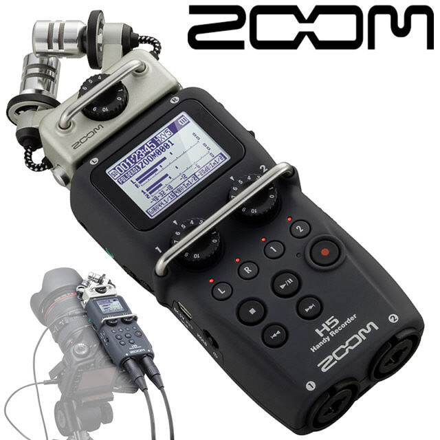 ZOOM H5 professional handheld digital recorder Four Track Portable Recorder upgraded version Recording pen