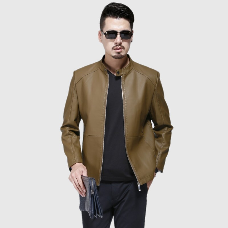 1715 nouvelle mode hommes automne vêtements homme printemps veste moto vestes hommes en cuir veste mince manteau