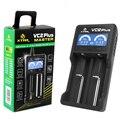 100% Originales VC2 XTAR Más Eléctrico Pantalla LCD Inteligente Cargador USB de Litio Ni-MH AAA Batería Para 14500/18350/18650/22650
