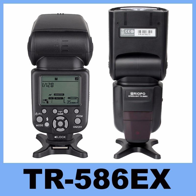 Nouveau Triopo TR-586EX Sans Fil Flash Mode TTL Flash Speedlight Speedlite Pour Canon EOS 550D 60D 5D Mark II comme YONGNUO YN-568EX II
