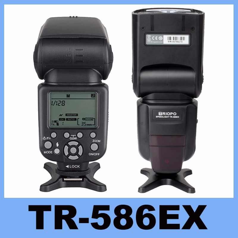 Nova Triopo TR-586EX Modo de Flash Sem Fio Flash TTL Flash Speedlite Para Canon EOS 550D 60D 5D Mark II como YONGNUO YN-568EX II