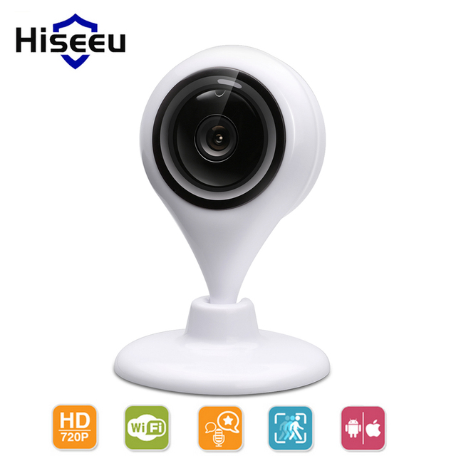 Hiseeu ip camera wifi HD 720P home security surveillance p2p 1.0mp wireless network wifi camera night vision two way audio