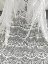 Высокое качество 3 метра от белого ресниц chnatilly кружева