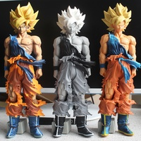 3 style Dragon Ball Z MSP Son Goku Super Saiyan Figure DragonBall Collection Model Figurine 34 CM