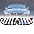 Für BMW Z4 E85 E86 COUPE 2003 08 Vorne Niere Grill Gitter Gloss Schwarz M farbe-in Rennauto-Kühlergrill aus Kraftfahrzeuge und Motorräder bei
